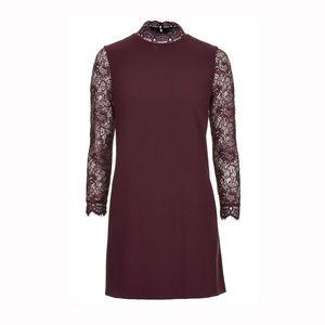 TopShop High Neck Lace Shift Dress